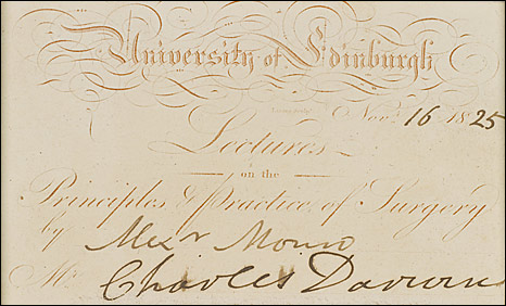 A hand-written manuscript for Charles Darwin's On the Origin of Species
