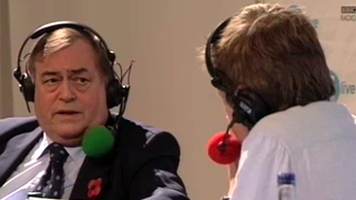 John Prescott speaks to Simon Mayo