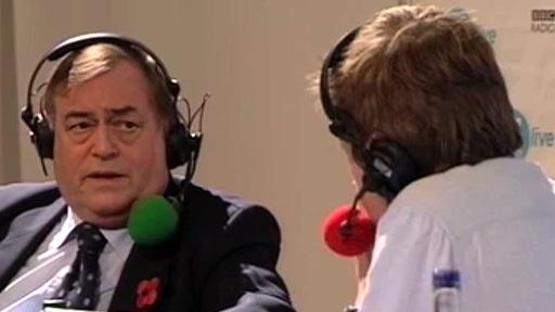John Prescott speaks to Simon Mayo
