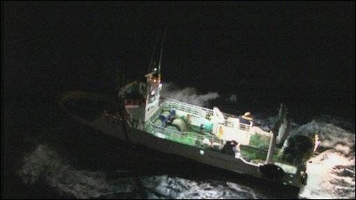 The Spanish fishing boat