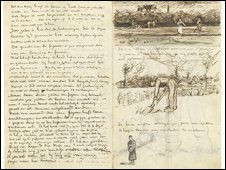 A letter from Vincent van Gogh to to his younger brother Theo in mid-September 1881