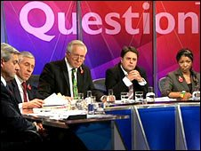 Question Time panel with Nick Griffin