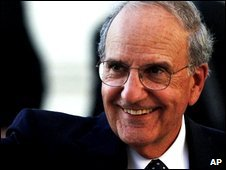 US Mideast envoy George Mitchell (file image from Sept 09)