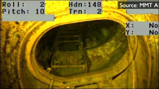 HMS E18's wreckage