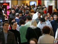 Shoppers in Bluewater Shopping Centre