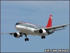 A Northwest Airlines Airbus A320