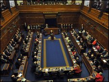 Stormont debating chamber