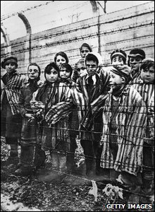Children imprisoned at Auschwitz