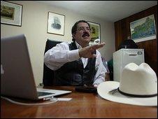 Manuel Zelaya in the Brazilian embassy 22.10.09