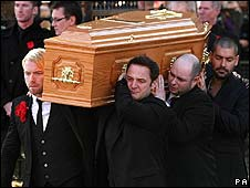 Members of Boyzone at Gately's funeral