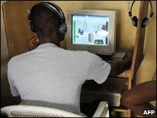 Internet cafe in West Africa
