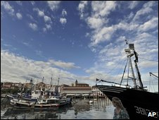 Trawlers in Bermeo, Spain (AP)