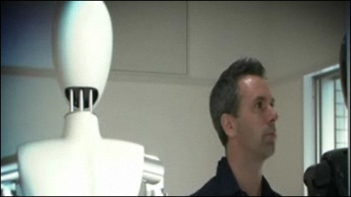Spencer Kelly and robot