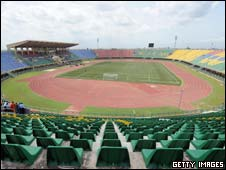 The stadium in Lagos for the Under-17 World Cup