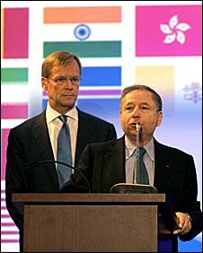 Ari Vatanen (left) and Jean Todt