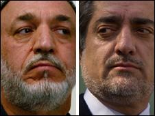 Hamid Karzai and Abdullah Abdullah