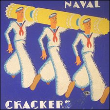 An ad poster for Naval Crackers