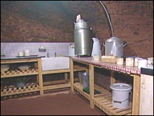 Kitchen in Stockport air raid tunnel