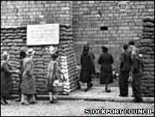 Stockport Air Raid Shelters entrance
