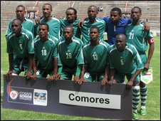 "Comoros national football team, nicknamed ""The Coelecanths"""
