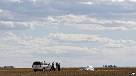 Balloon landed in a field east of Hudson, Colorado, on 15 Oct