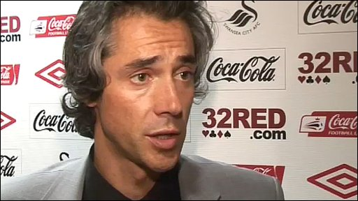 Swansea manager Paulo Sousa
