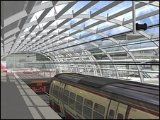 Artist's impression of Glasgow airport rail link