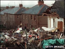 Scene of the Lockerbie bombing