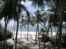 A beach in Mombasa