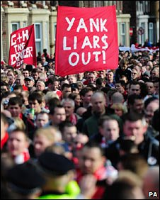 Liverpool fans' protest