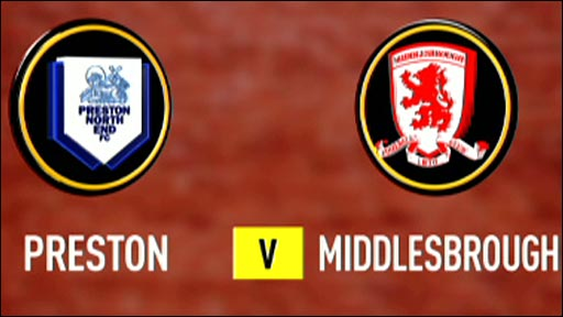 Preston v Middlesbrough