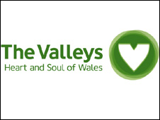 Part of the logo promoting the south Wales valleys