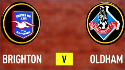 Brighton v Oldham