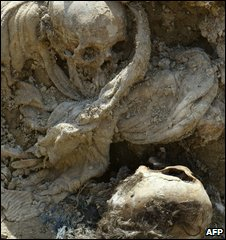 Mass grave found near Zvornik, Bosnia, in 2003