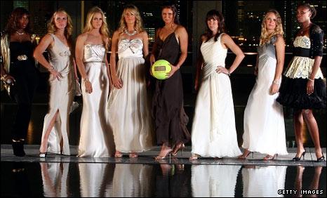 Serena Williams, Svetlana Kuznetsova, Elena Dementieva, Victoria Azarenka, Dinara Safina, Jelena Jankovic, Caroline Wozniacki, Venus Williams