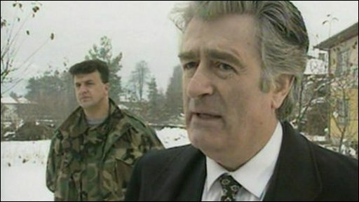 The former Bosnian Serb leader Radovan Karadzic