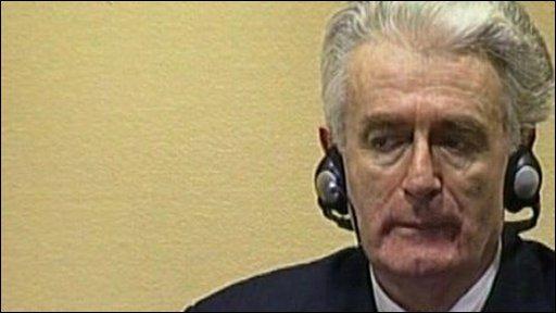 The former Bosnian Serb leader, Radovan Karadzic