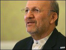 Iranian Foreign Minister Manouchehr Mottaki in Tehran (20 October 2009)