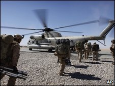 US helicopter in Afghanistan (file image)