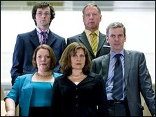 The cast of The Thick of It.
