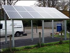 Solar bike shed. Image: Highland Council