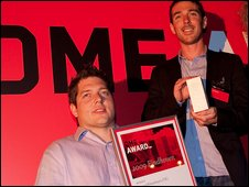 Mark and Jon (r) Owen with their award