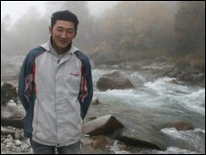 Bakutbek Ermenbaev, of Kyrgyz hydrogeology agency, at  Ala-Archa gorge