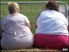 Two obese ladies