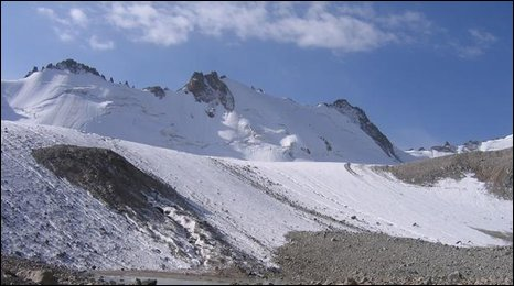Adigene glacier, Alatau mountains, Kyrgyzstan