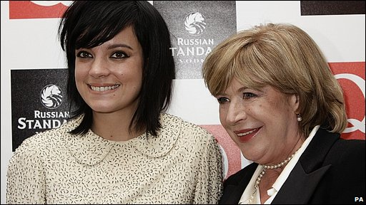 Lily Allen and Marianne Faithfull
