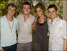 Cheryl Cole and her X Factor finalists