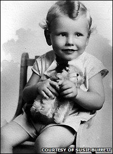 Warren Buffett as a child (Picture courtesy of Susie Buffett)