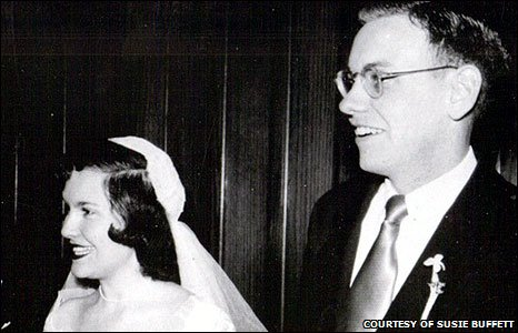 Warren Buffett and Susie Thompson (Picture courtesy of Susie Buffett)