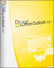 Box shot of Outlook, Microsoft